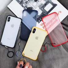 Moskado Tanpa Bingkai Plastik Bening untuk iPhone 6 6 S 7 7 Plus X XR X Max Ultra Tipis matte Mewah Hard Pc Back Cover Coque(China)