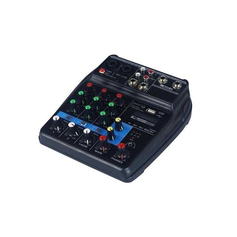 Mini amplificateur de mixage Audio USB carte Bluetooth 48 V alimentation fantôme 4 canaux pour DJ karaoké YA88