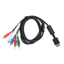 Черные туфли высокого качества 1.8 м HDTV AV аудио-видео кабель компонентный кабель 480 P игры преобразования Кабель-адаптер для Sony PS2 PS3 Slim