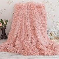 Super Soft 160 200cm Long Blanket Bedding Supplies Shaggy Fuzzy Fur Faux Warm Sherpa Throw Blanket