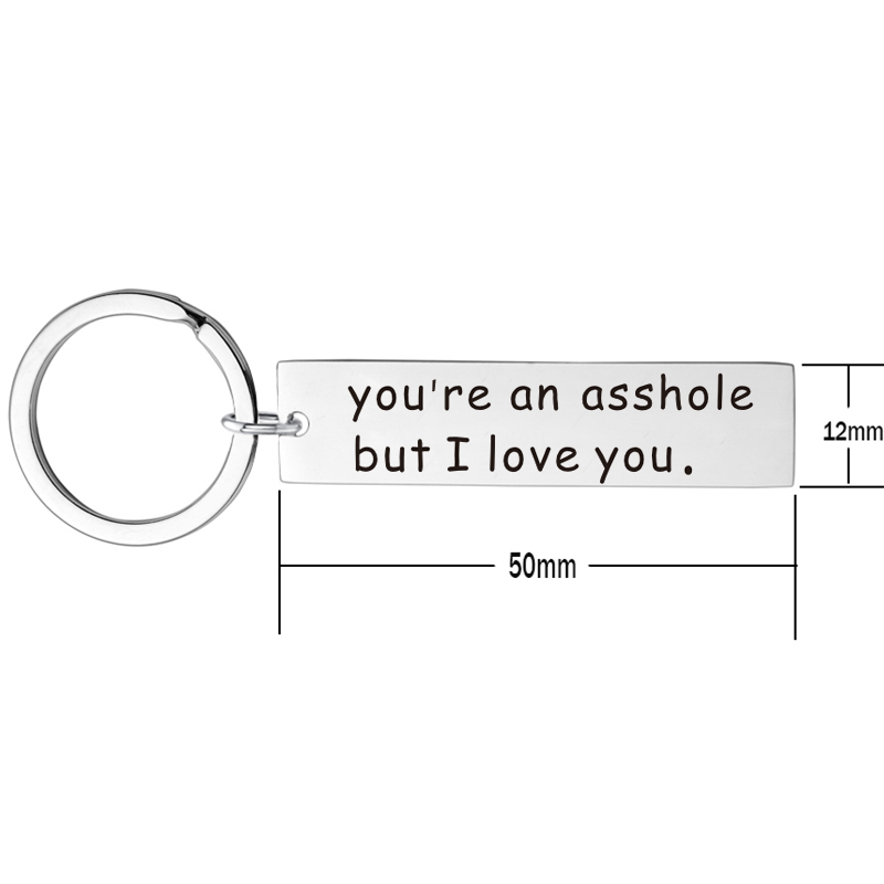 Valentine 39 s Gifts You 39 re My Favorite Asshole Key Chain Stainless Steel Keyring Funny Letter Keychain for Boyfriend Husband in Key Chains from Jewelry amp Accessories