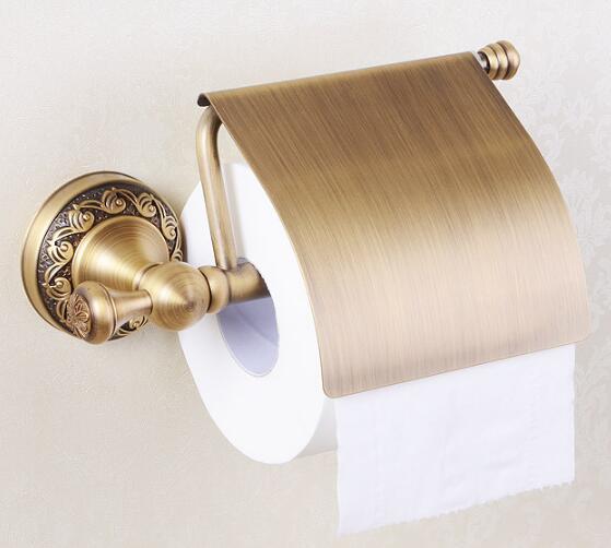 Luxury Copper Bathroom Accessories Antique Towel Bar Glass Shelf