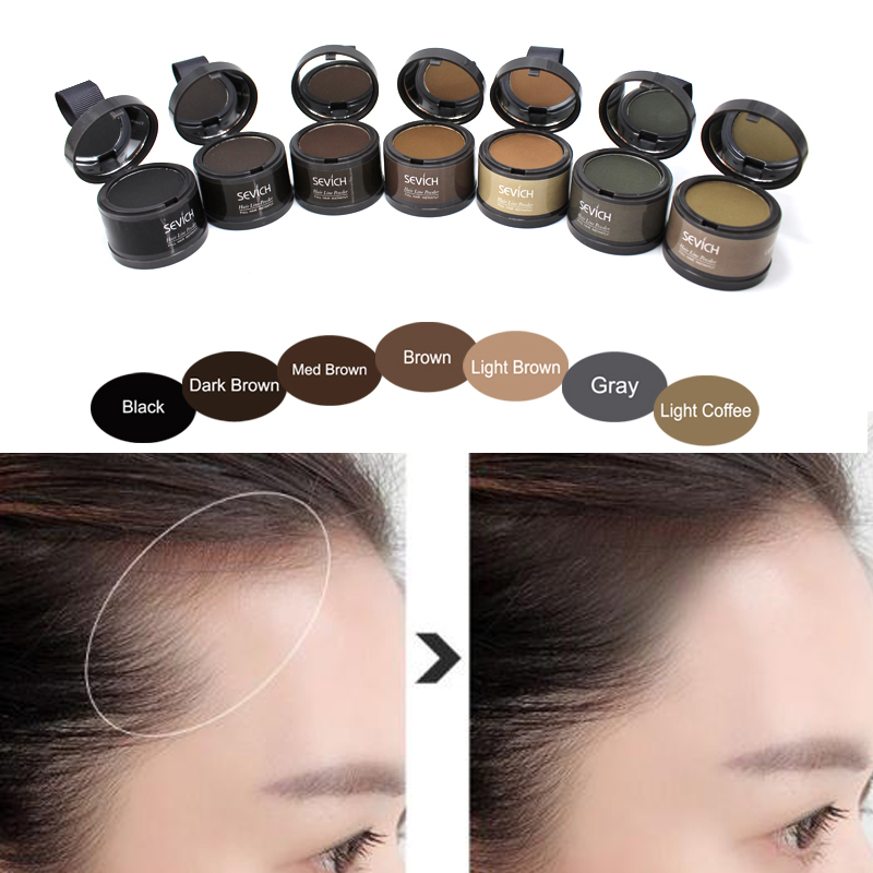 Sevich Fluffy Hair Line Shadow Powder Makeup Hair Color Cosmetics Natural Instantly Black Root Cover Up Hairline Hair Concealer