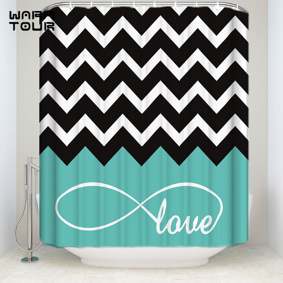 Bath Shower Curtains Green Infinity