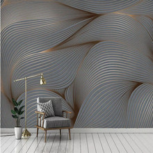 3D wallpaper geometric abstract line lines modern minimalist background wall custom mural photo