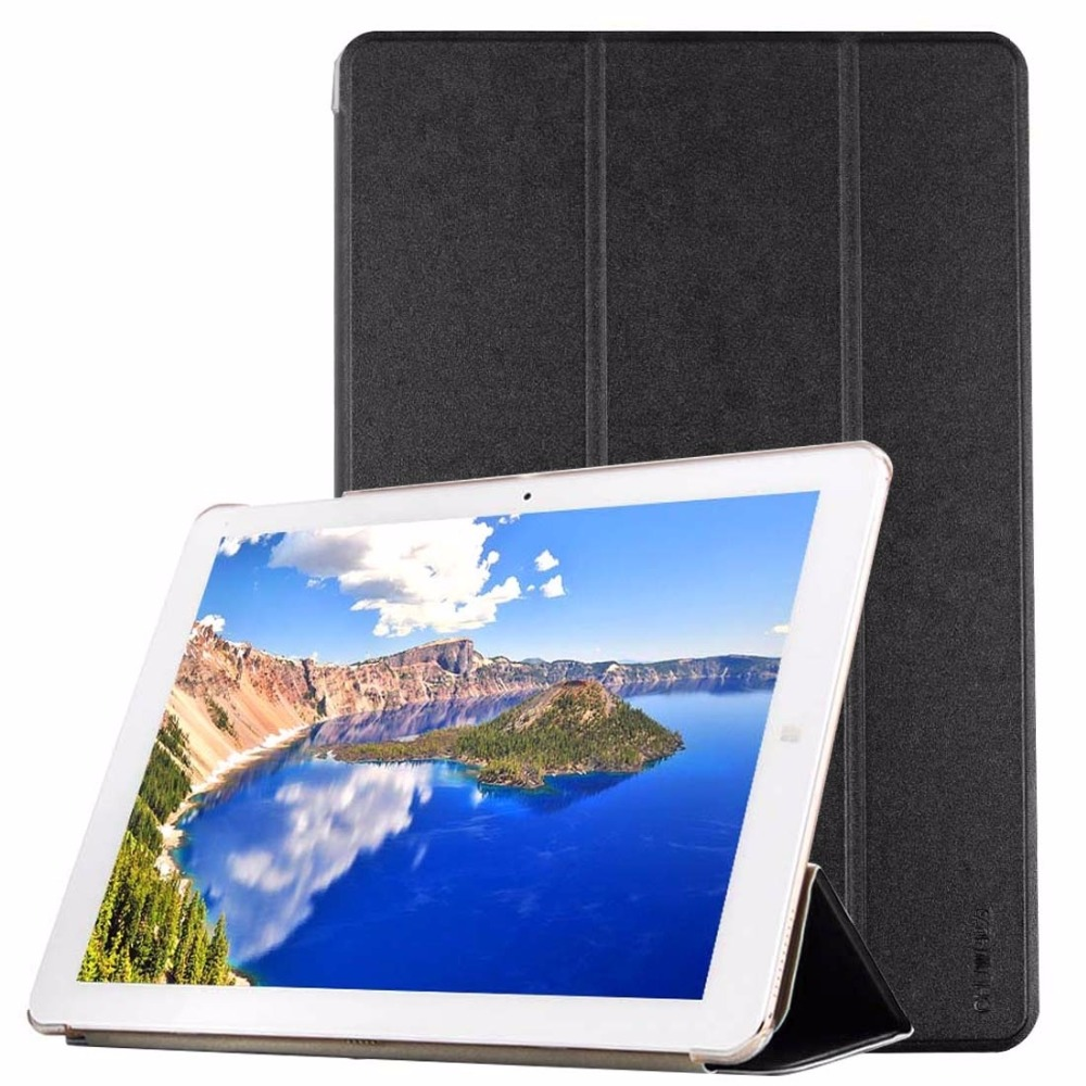 CHUWI Hi12 Tablet Frosted Texture Horizontal Flip Solid Color Leather Case with Three-folding Holder