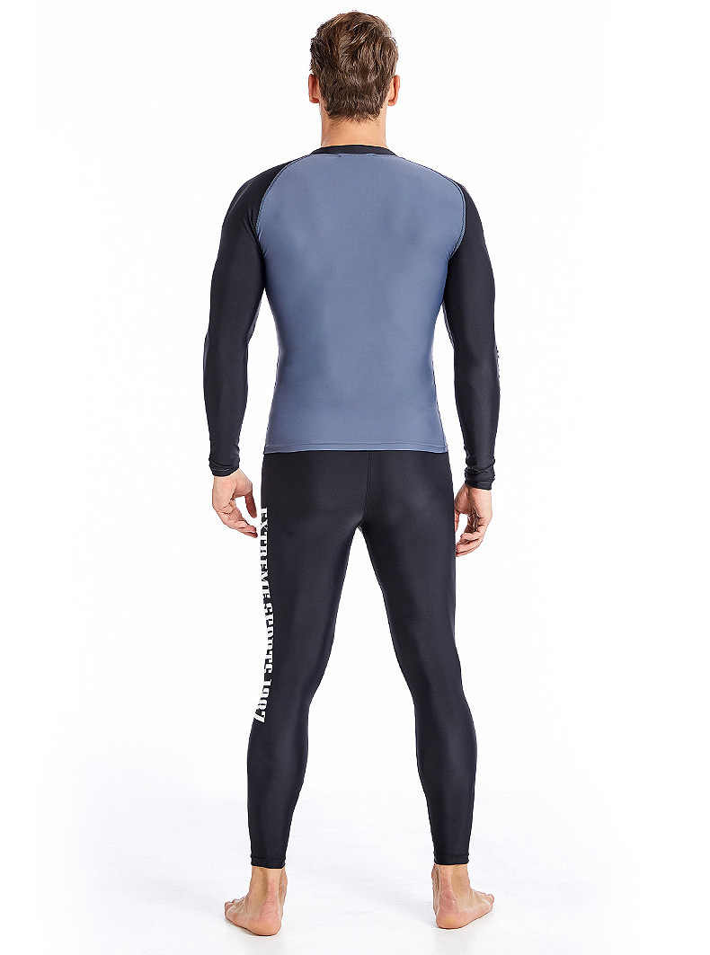 Sabolay upf50 rashguard ארוך שרוול בגד ים לייקרה רעש משמר שחייה חולצה uv לגבר גלישה בגדי גברים לשחות jammer