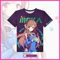 Mais de Assistir! D. VA Anime Camisetas Quick dry-Cosplay Amor Casal T Camisas Moda Respirável Roupas de Estudante Dos Desenhos Animados Cobre T
