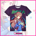 Over Watch! D.VA Anime T-shirts Quick-dry Cosplay Love Couple T Shirts Fashion Breathable Clothing Cartoon Student Tops Tees
