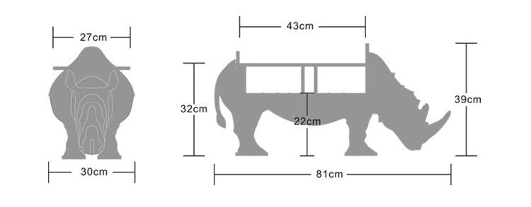 Мебел от носорог от висок клас