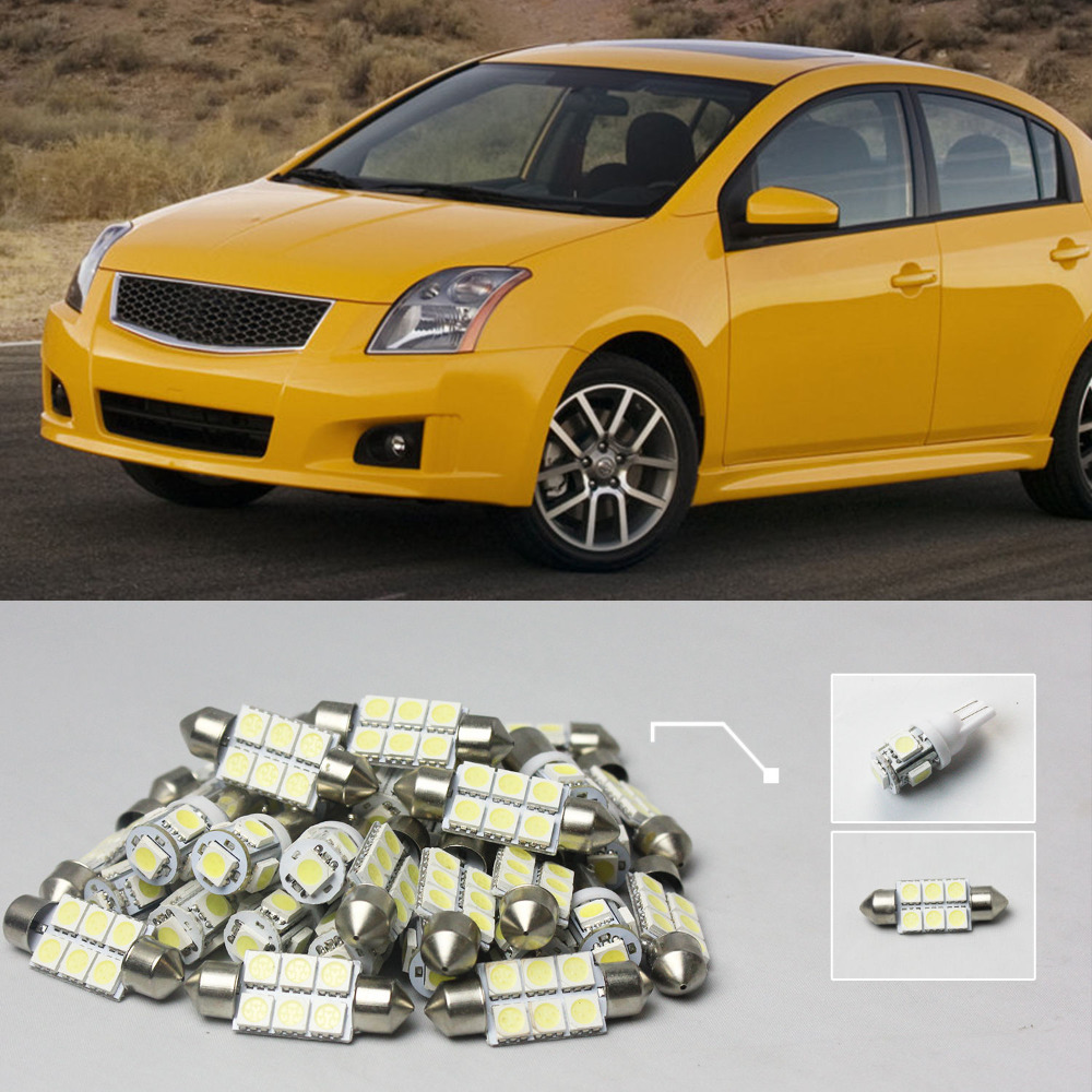 Popular sentra interior buy cheap sentra interior lots from china 02 7x white led lights interior package kit for nissan sentra vanachro Choice Image