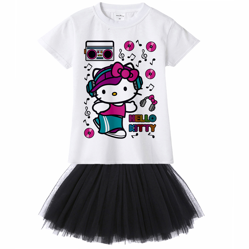 1Yto12Y big girl Hello Kitty Dresses Summer 2018 Cartoon Tutu Dress For Girls Kids Princess Dresses Girls Clothes Robe Enfant new arrival princess girl dress party wedding birthday kids tutu dress for girls dresses clothes summer 2017 robe fille enfant