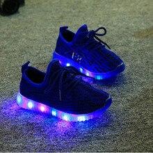 Brand New Childrens Shoes  Girls Boys Kids Sneaker Cartoon yezi LED light luminous boot Child Flats Enfant tenis baby trainer