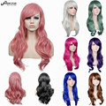 Hot Sale 70cm Long Blonde Red Silver Long Wavy Curly Anime Cosplay Wig Perruque Cheveux Synthetic Wig Halloween Party Hair Wig
