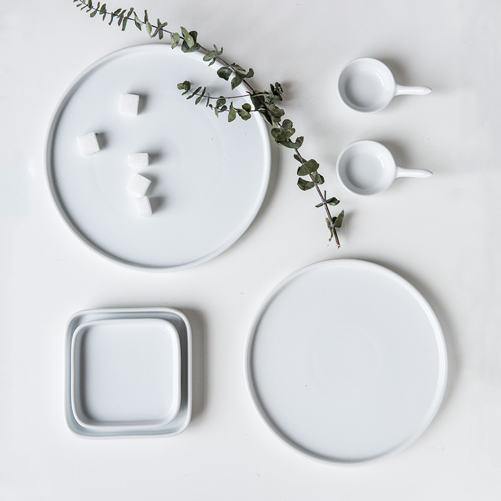 European Creative Ceramic Plate White Porcelain Dinner Sets  Korean Kitchen  Dishes Sets Dinnerware  Dishes And Plates