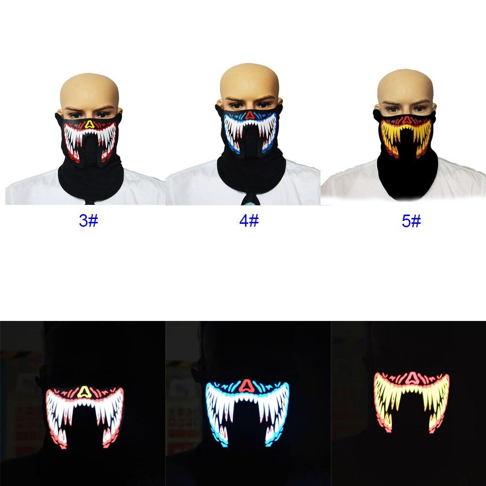LED Luminous Flashing Face Mask Light Up Dance Party Halloween Cosplay Masks M09