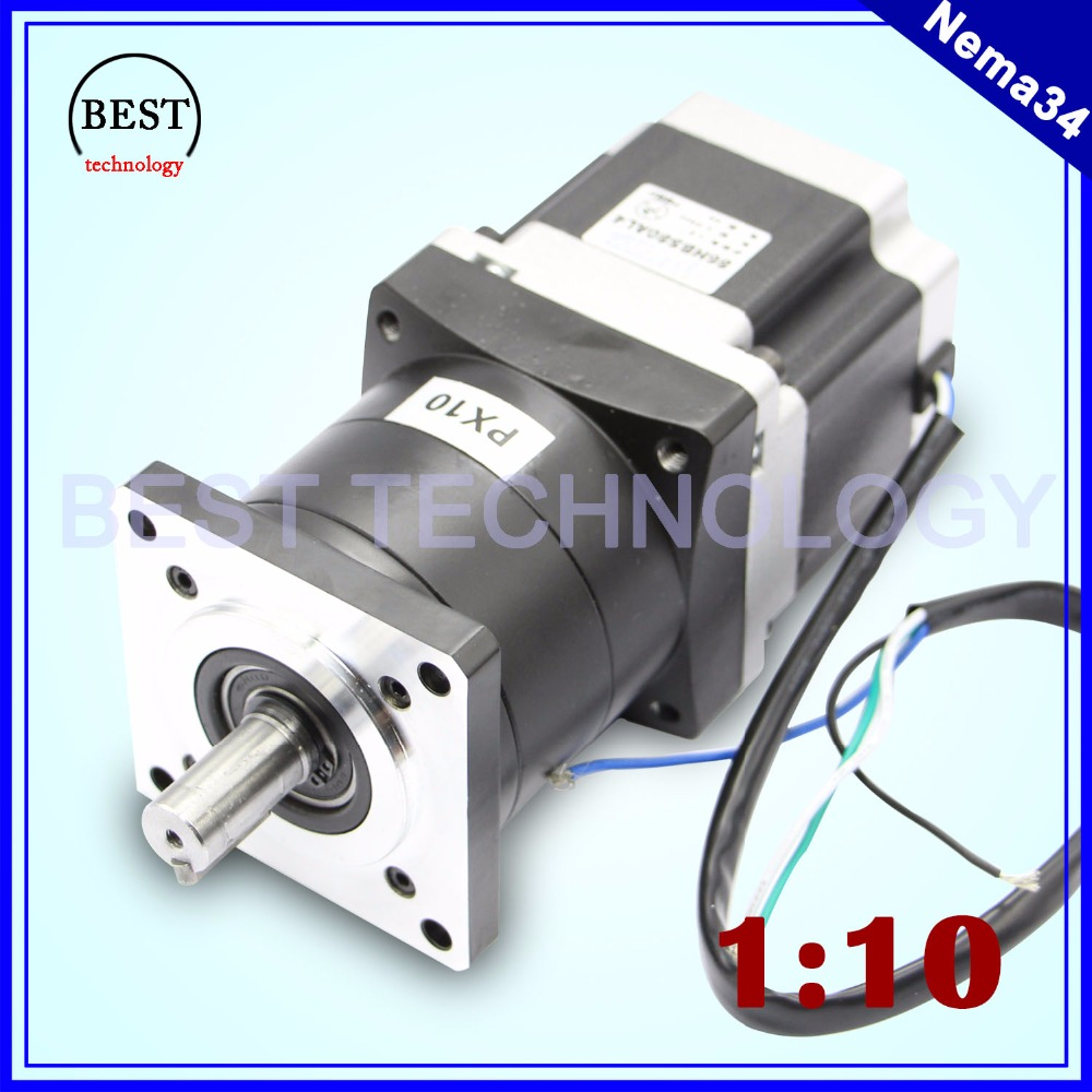Nema34 stepper Motor Planetary Reduction Ratio 1:10  1:16 planet gearbox 86 x 114 motor speed reducer, High Torque high qualityNema34 stepper Motor Planetary Reduction Ratio 1:10  1:16 planet gearbox 86 x 114 motor speed reducer, High Torque high quality