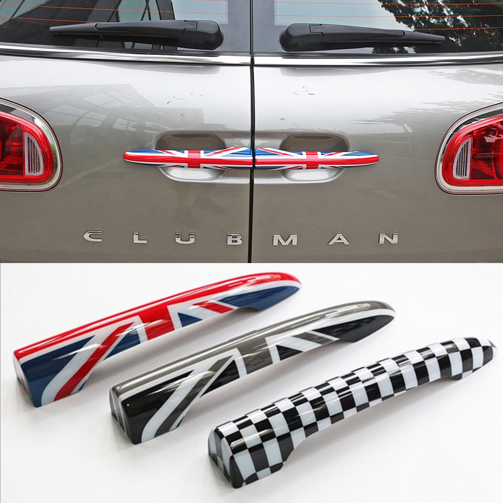 2Pcs/set Union Jack Rear Trunk Door Handle Covers Decoration Sticker For MINI Cooper JCW F54 Clubman Car Styling Accessories 2pcs set union jack rear trunk door handle covers decoration sticker for mini cooper jcw f54 clubman car styling accessories