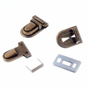 Image 3 - Kostenloser Versand 10 Sets Silber Ton Antiken Bronze Handtasche Tasche Zubehör Geldbörse Snap Verschlüsse/Verschluss Lock 22mm x 34mm