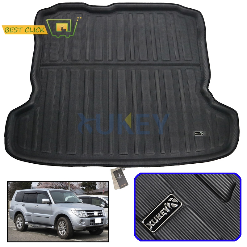 Rear Trunk Liner Boot Mat Cargo Tray Floor Carpet For Mitsubishi Pajero Shogun 2007-2018 2008 2009 2010 2012 2013 2014 2015 2016