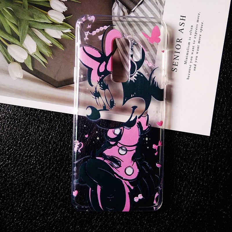 Мультфильм пара поцелуй прозрачный мягкий TPU чехол для телефонов чехол для samsung A50 A30 a5 2017 a6 a7 2018 s6 s7 Edge s8 S9 S10 плюс