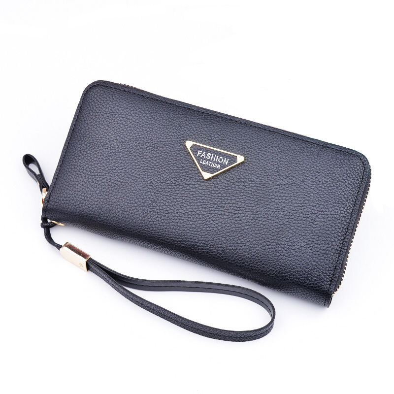 High Quality Leather Wallets Women Purses Zipper Long Coin Purses Money Bags Card Holders Clutch Wristlet Phone Wallets Female  new arrival leather wallets men brand long zipper purses phone clutch wallets male business style money bags with card holders