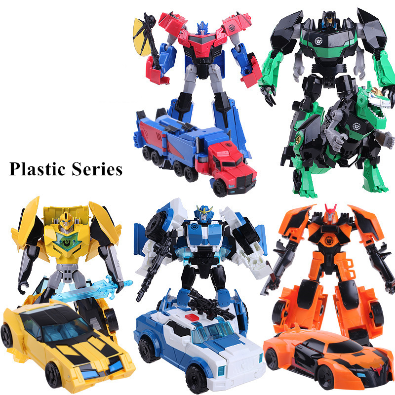 Anime Series  4 Toys Plastic ABS Deformation Robot Car Action Figure Brinquedos Kids Cool Model Boys Toys Christmas Gifts мир деревянных игрушек мди лабиринт зебра