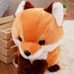 Image 5 - 1PC 40CM miękkie słodkie długi tren lis pluszowy zabawka nadziewane lalka dla dzieci moda Kawaii prezent na prezent urodzinowy dla dzieci wystrój sklepu domowego