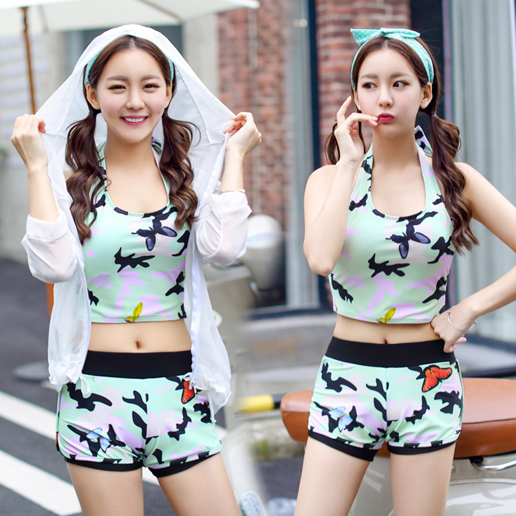 ФОТО Swimming Suit For Women Retro Bikini Set Woman Large Size Swimsuits Swimsuit 2017 New High Waisted 7015 Polyester Lycra Plavky