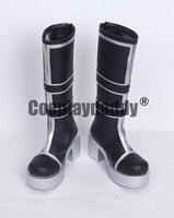 Lovelive Nico Yazawa Halloween Adult Black Long Coslpay Shoes Boots S008