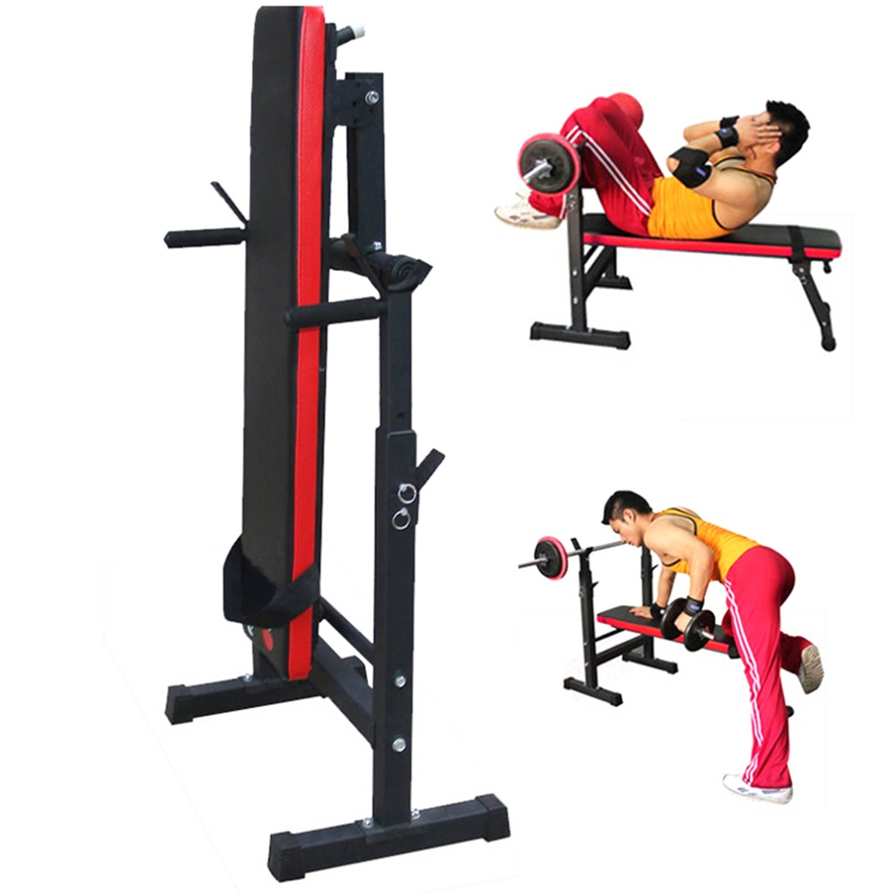 купить Heavy Duty Gym Shoulder Chest Press Sit Up Weights Bench Barbell Fitness Full Body Workout Exercise Equipment недорого