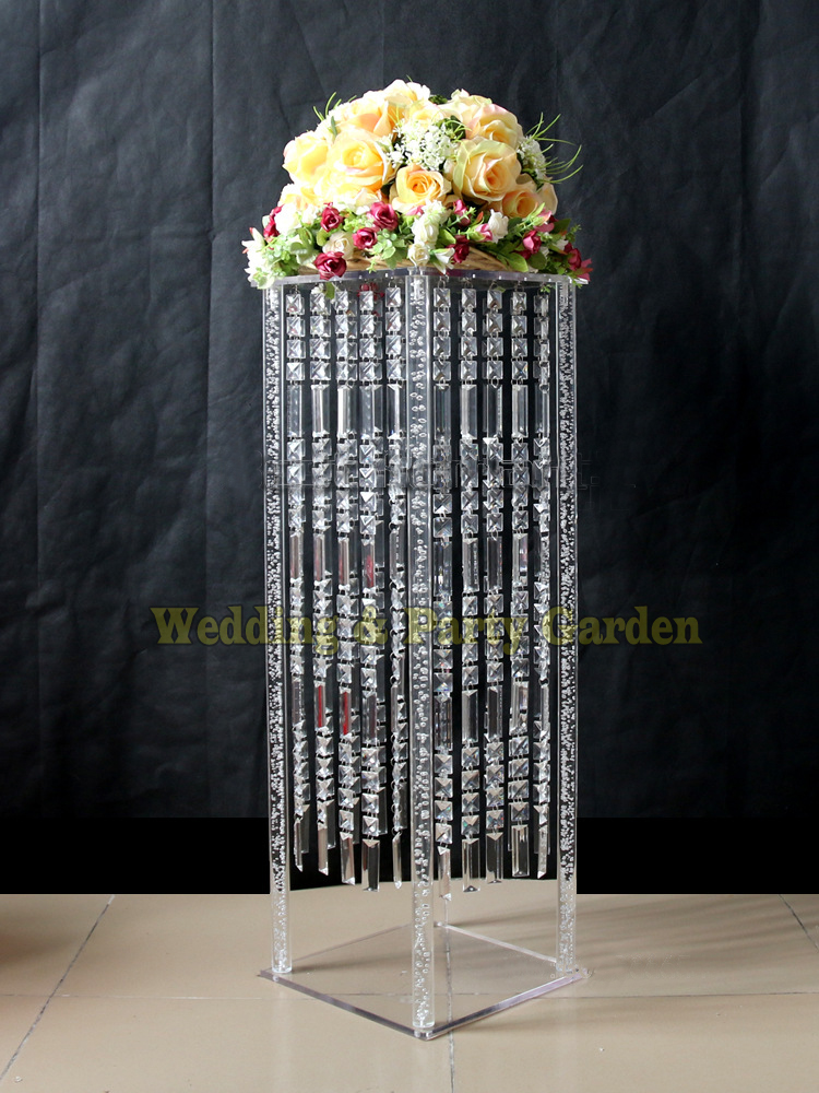 Cm tall wedding acrylic crystal table centerpiece square