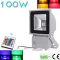 Красивый Дизайн 100 Вт RGB LED Открытый Водонепроницаемый Прожектор Вымойте Прожектор Прожектор Освещения С Пультом Ду AC85-265V