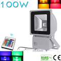 Beautiful Design 100W RGB LED Outdoor Waterproof Flood Light Wash Floodlight Spotlight Lighting With Remote Controller AC85-265V