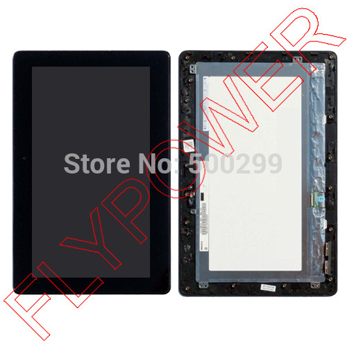 For ASUS Transformer Book 10.1 T100 T100AT LCD Display with Touch Screen Digitizer Panel assembly + Frame by free shipping free shipping for asus transformer pad tf201 tcp10c93 v0 3 touch screen panel digitizer glass lcd display screen panel assembl