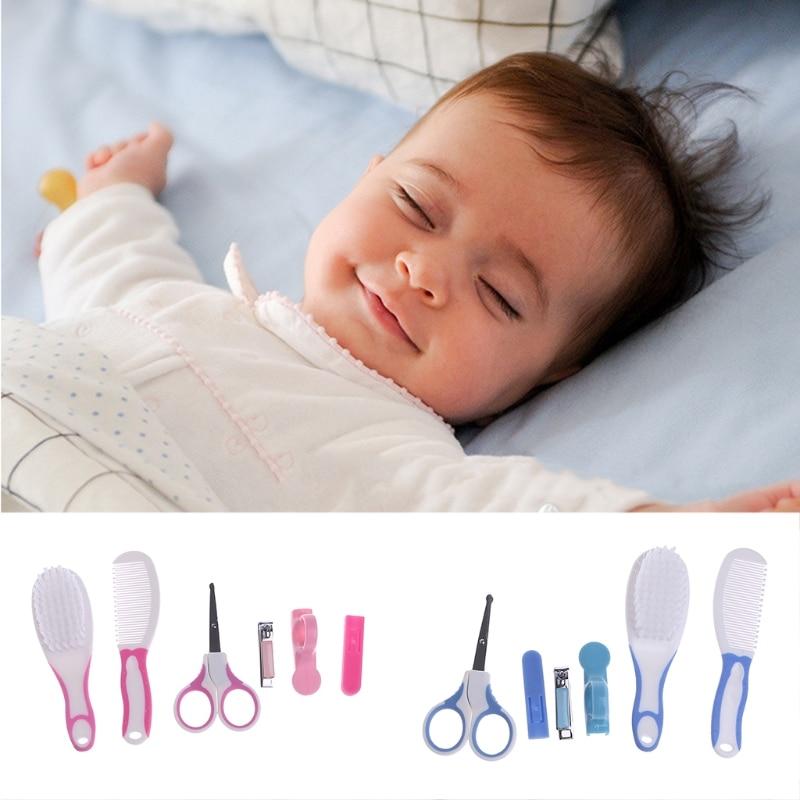 6pcs Set Newborn Baby Kids Manicure Nail Hair Health Care Grooming Brush Kit New P101