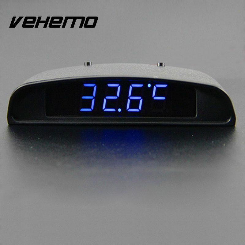 12V 3 In 1 Car Vehilce Digital Clock Thermometer Battery Volt Monitor Meter