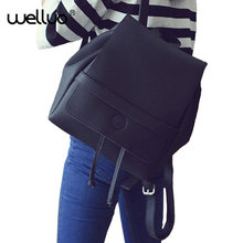 Новинка 2017 года Ретро Популярные Для женщин рюкзак черный из искусственной кожи Для женщин Рюкзаки модные Обувь для девочек школьная сумка черный женский Рюкзаки XA20B