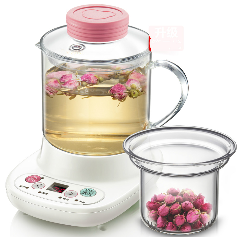 Mini-health pot automatic thickening glass electric hot cup boiled flower teapot/electric kettle electric kettle health care cup electric hot mini glass health pot office smart water brew teapot