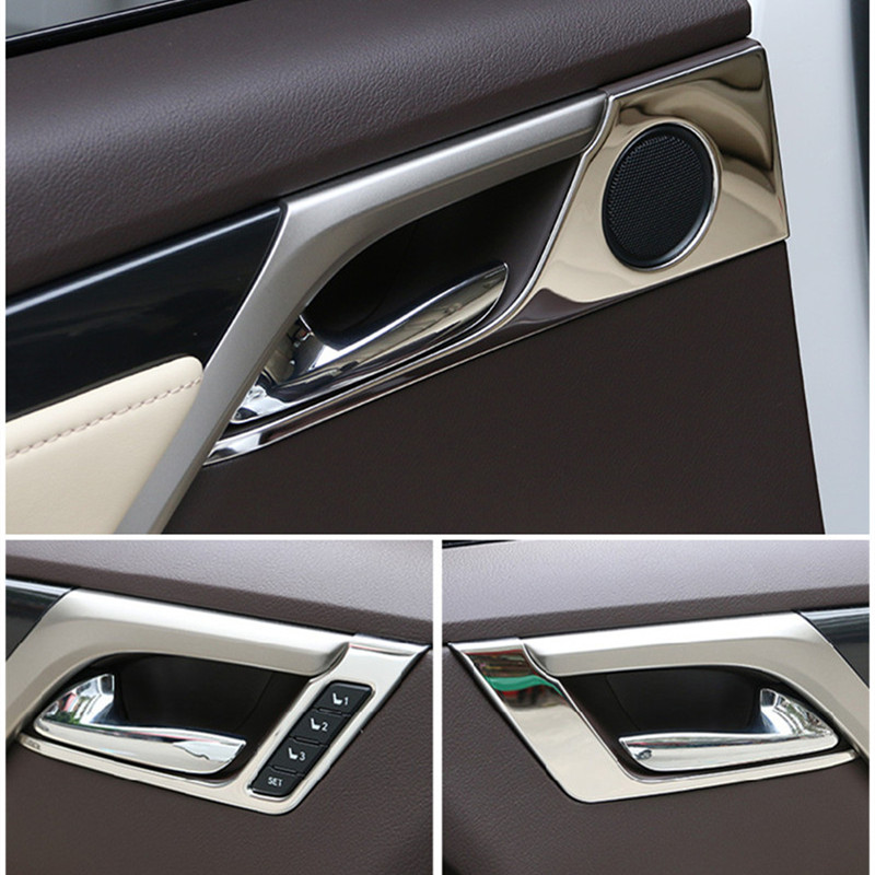 4pcs interior door handle frame trim sequins sticker stainless steel styling car accessories. Black Bedroom Furniture Sets. Home Design Ideas