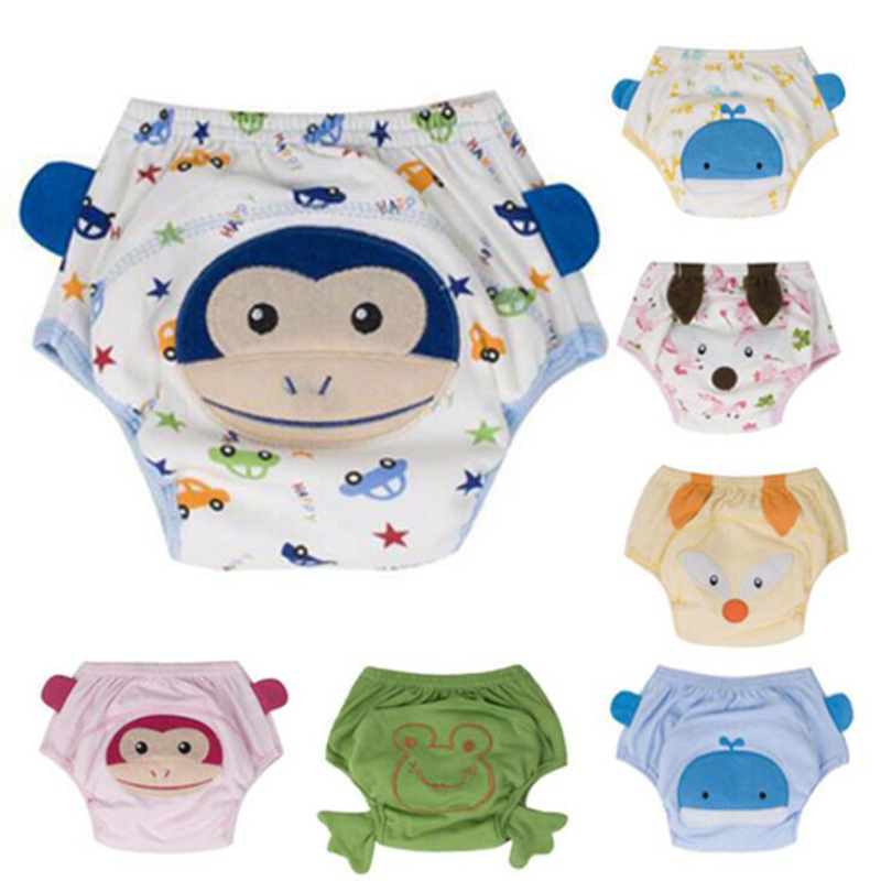 4Layers Cotton Baby Nappies Diapers Reusable Training Pants Panties Breathable Children Cloth Diaper Waterproof Washable