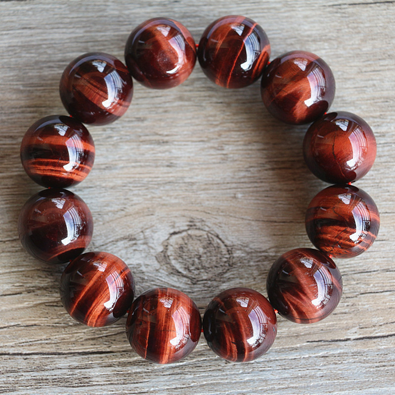 Natural Red Tiger Eye Bracelet 12mm Beads Red Tiger Eye Stone Bracelets for Men Women Bracelet Jewelry Accessories 16MM eye pendent bracelet watch suitable for women