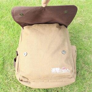 Image 5 - Backpacks For Men Mochilas Para Hombre Attack on Titan Backpack School Bag For Mens bagpack plecak Canvas Laptop back pack APB22