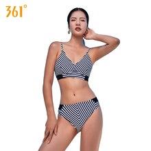 Купить с кэшбэком Fringe Swimsuit Women Sexy Push Up Bikini Halter Brazilian Bikini Set Bathing Suit Ladies Striped Swimming Suit Female Bathing
