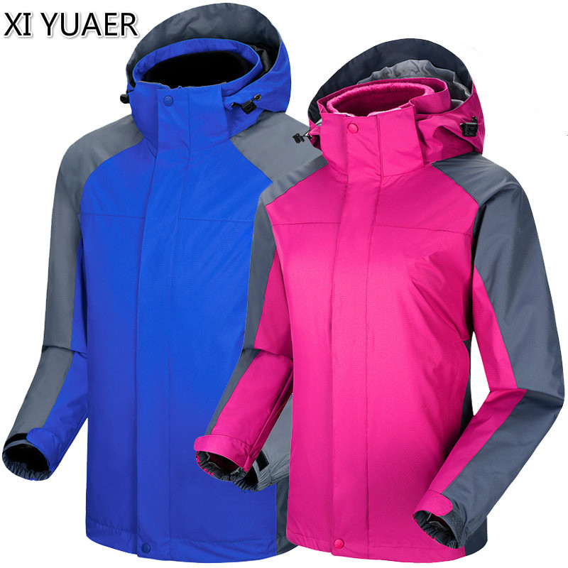High Quality Outdoor Hiking Jacket Women Warm Ski Outwear For Tourism Fleece Patchwork Mens Windbreakers Thermal Jacket 50005 running river brand winter thermal women ski down jacket 5 colors 5 sizes high quality warm woman outdoor sports jackets a6012