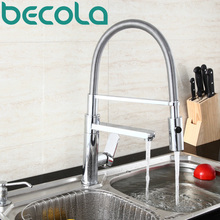 becola Hot Sell Fashionable Kitchen Faucet Sink Tap Pull out Spray Kitchen Mixer free shipping CH-8013