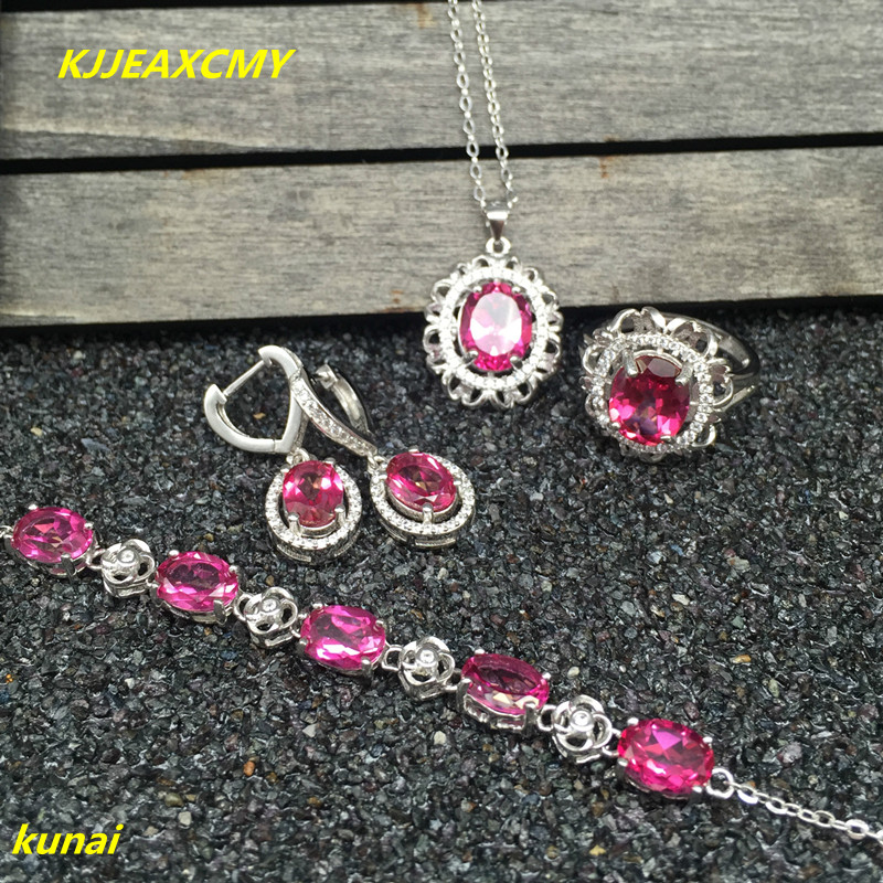 KJJEAXCMY boutique jewels 925 silver inlay natural pink topaz ring pendant earrings bracelet 4 suit jewelry necklace sent sd kjjeaxcmy boutique jewels 925 silver inlay natural pink topaz ring pendant earrings bracelet 4 suit jewelry necklace sen