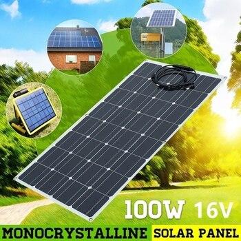 Гибкая монокристаллическая солнечная панель BOGUANG, 100 Вт, 16 В, зарядное устройство, солнечный модуль для RV/лодки/кабины/палатки/автомобиля/при...