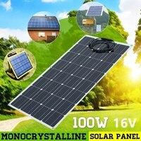 BOGUANG 100W 16V Flexible Monocrystalline Solar Panel Battery Charger Solar Module for RV/Boat/Cabin/Tent/Car/Trailer