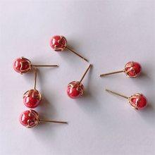6MM Beads 10pcs lot Retail Pearl Earring Base Cabochon Cameo Settings Bezel  Tray Diy Jewelry c823c71d0dae